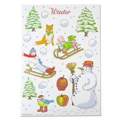Bastelbogen Winter
