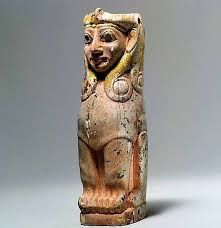 Furniture support: female sphinx with Hathor-style curls Ancient Aliens, Ancient Art, Ancient Egypt, Cave Drawings, Religious Text, Ancient Near East, Great Awakening, Curl Styles, Stone Sculpture