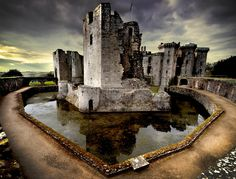 Raglan Castle, the former seat of William Herbert was one of the finest stately homes in Britain.