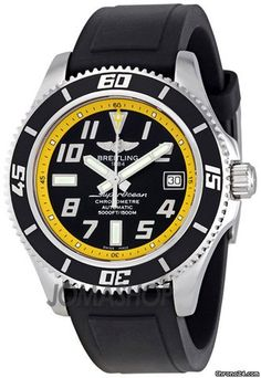 Breitling Superocean Black and Yellow Dial Mens Watch