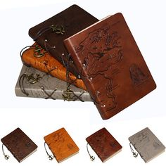 Pirate Jack Map Notebook Leather String Anchors Blank Diary Journal Sketchbook