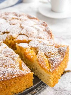Apricot Cake is so easy to make from scratch! This simple but so flavorful cake is topped with fresh apricots and is perfect for summer entertaining. Delicious Cake Recipes, Cake Mix Recipes, Pound Cake Recipes, Easy Cookie Recipes, Fruit Recipes, Brownie Recipes, Apple Recipes, Yummy Cakes, Dessert Recipes