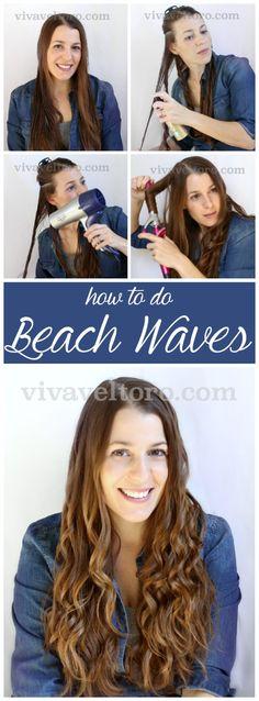 How to do beach waves!  An easy tutorial to accomplish easy and beautiful beachy waves. #DIY #spon #NewSeaBeauty