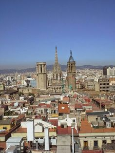 The Cathedral from Sant Just Paris Skyline, Cathedral, Barcelona, City, Travel, Viajes, Cathedrals, Barcelona Spain, Cities