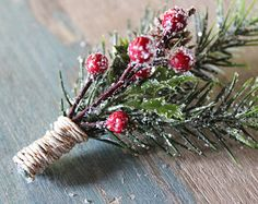 winter topiary cone centerpiece with balls | ... Pine and Berry, Gold Twine, Pine cone, Christmas, Winter Wedding