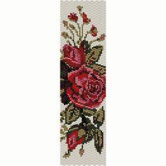 Vintage Flowers 4 Peyote Bead Pattern Bracelet от SmartArtsSupply