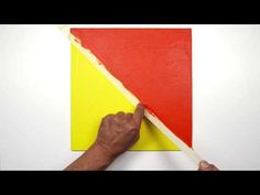 Creating a hard edge with acrylic paints | Winsor & Newton Masterclass – Learning Tools for Artists - YouTube