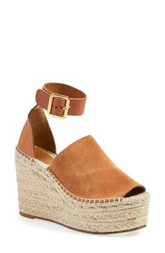 Chloé 'Isa' Espadrille Wedge Sandal (Women) available at #Nordstrom