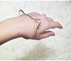 Brass Kitty Bangle, Meow!!