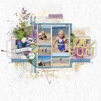 Hello Fun #scrapbook layout by Kayleigh Wiles #ShopDesignerDigitals