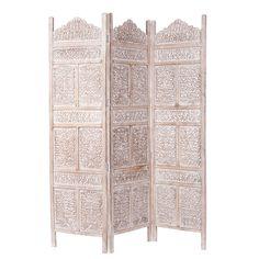 Raumteiler UDAIPUR aus Mangoholz, B 150 cm, geweißt                                                                                                                                                                                 Mehr