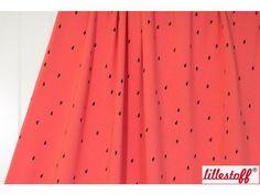 Bio-Stoffe - 0.5m Bio Jersey Wassermelone, Lillestoff - ein Designerstück von PinkPeppa bei DaWanda