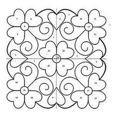 Ornaments, charts and images for applications. Hand Quilting Patterns, Quilting Templates, Mosaic Patterns, Free Motion Quilting, Quilting Projects, Quilting Designs, Embroidery Patterns, Celtic Quilt, Quilled Paper Art