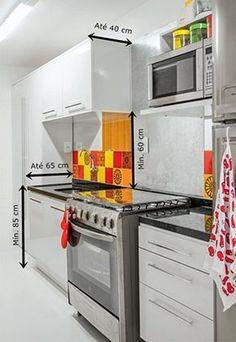 """Um dos posts mais compartilhados no Pinterest do Simples Decoração é o """"Medidas importantes na cozinha"""". Um post completo, com todas as sugestões de medidas necessárias em uma cozinha seria enorme . Por isso estou sempre voltando ao assunto, com mais informações e desenhos que tentei adaptar para nós, brasileiros..."""