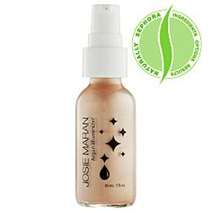 Josie Maran Argan Illuminizer. This makes your skin look so beautiful! Just mix it in with your liquid foundation and you get the most amazing glow!!