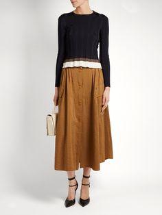 Click here to buy Nina Ricci Combat faille midi skirt at MATCHESFASHION.COM