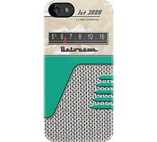 Transistor Radio - 50's Jet Green iPhone Case by ubiquitoid
