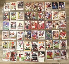 Football Card Lot Arizona Cardinals 54 Cards No Duplicates Stars Rookies HOF #ArizonaCardinals