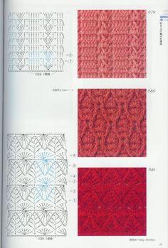 Crochet Patterns Book 300 - 新 - Веб-альбомы Picasa Crochet Stitches Chart, Crochet Symbols, Crochet Diagram, Filet Crochet, Crochet Motif, Knitting Stitches, Knitting Patterns, Crochet Patterns, Crochet Cable