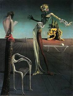 Salvador Dali's Femme à tête de roses (1935). I saw this small painting in the Kunsthaus Zurich one upon a time. It was, and still is, magnificent. One of my favourites from Dali's work.