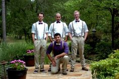 Suspenders and khakis