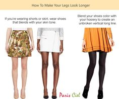 Door de kleur van je schoenen te laten matchen met de #kleur van je benen of panty's lijken je #benen langer en #slanker