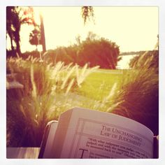 Devotions in the morning on our back patio at Club Med Sandpiper Bay.