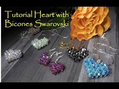 Tutorial Heart with Bicones Swarovski - february 2016 - YouTube