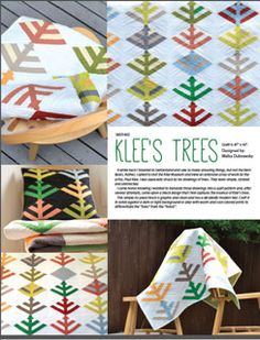 Stitch in Dye Klee's Trees Quilt - Downloadable Pattern