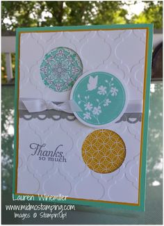 Stampin' Up! Serene Silhouettes, Eastern Elegance dsp www.midmostamping.com