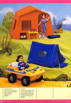 Sindy's camping set. I loved this.and remember taking time over ensuring the jeep stickers were perfectly applied!
