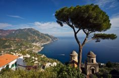 #Ravello is a town in the #Amalfi Coast in the province of #Salerno in #Campania. Listed as a UNESCO World Heritage Site in 1996, it's a popular tourist destination because of its scenic beauty. This photo was taken from Villa Rufolo, one of the town's most visited sites.