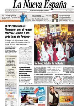 Los Titulares y Portadas de Noticias Destacadas Españolas del 29 de Marzo de 2013 del Diario La Nueva España ¿Que le parecio esta Portada de este Diario Español?