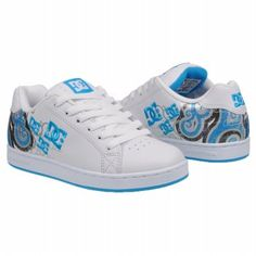 DC Shoes Women's Pixie Swirl- nice feminine target. The triple logo seems a bit overpowering at the size theyre at, but the design is carried out throughout the heel and to the inside.
