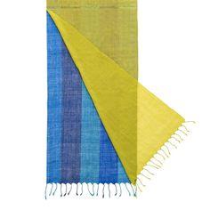 Sciarpa indiana di lana multistrato fatta a mano