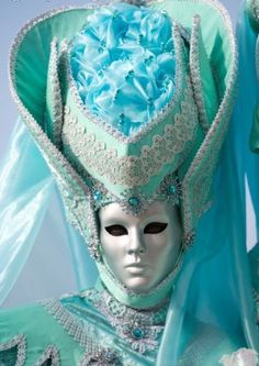 Venetian costume and silver mask
