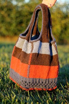 Twice Recycled Lunch Bag Knitting Accessories Knitted Bags Yarn Patterns