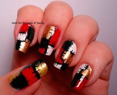 101 Cute Christmas Nail Designs for the Festive Season | Nail Art, Hairstyles & Beauty Tips