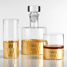 A gold-faceted bar set for anyone who passes off Kirkland vodka as Grey Goose. | 26 Gifts That Only Look Expensive