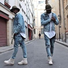Olha esse Look All Jeans que Feshion Fashion Moda, Urban Fashion, Love Fashion, Mens Fashion, Men Looks, Stylish Men, Men Casual, Moda Blog, Outfits Hombre