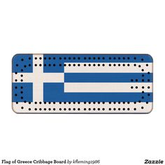 Flag of Greece Cribbage Board