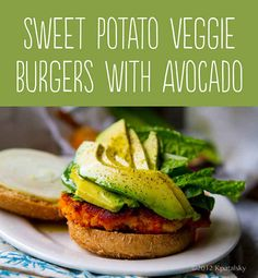Sweet Potato–Veggie Burgers with Avocado | 25 Tasty Hamburger Alternatives That Are Actually Good For You
