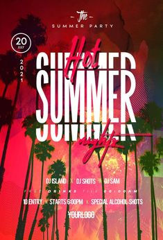 Download the Hot Summer Nights Party Free Flyer Template! - Free Club Flyer, Free Flyer Templates, Free Party Flyer, Free Summer Flyer - #FreeClubFlyer, #FreeFlyerTemplates, #FreePartyFlyer, #FreeSummerFlyer - #Club, #DJ, #Event, #Music, #Night, #Nightclub, #Party, #Urban