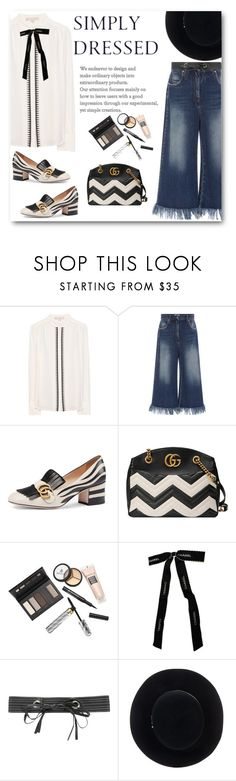 """""""Simply Dressed"""" by juliehalloran ❤ liked on Polyvore featuring Vanessa Bruno, MSGM, Gucci, Borghese, Chanel, Michael Kors and Eugenia Kim"""