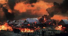 The_Witcher_3_Wild_Hunt_Burning_Village | Ian Miles Cheong | Flickr
