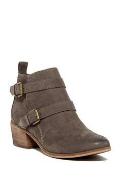 Veronika Buckle Bootie by SUSINA in grey leather Bootie Boots, Ankle Boots, Vans Checkered, Grey Leather, Block Heels, Fashion Shoes, Footwear, Booty, Nordstrom Rack