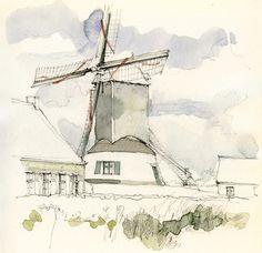Gistel, Oostmolen, België   by Linda Vanysacker - Van den Mooter