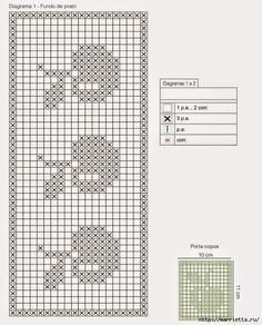 tejidos a crochet cortina o mantel Filet Crochet, Crochet Borders, Crochet Chart, Knit Crochet, Crochet Patterns, Free Cross Stitch Charts, Counted Cross Stitch Patterns, Crochet Tablecloth, Tapestry Crochet