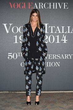 Bianca Brandolini floral suit.
