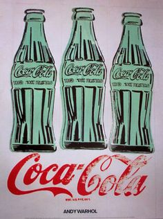 Andy Warhol started painted Coca-cola into his Pop art way of painting. Coke along with Campbells Soup were items that were being mass pro. Coca Cola Vintage, Coca Cola Ad, Coca Cola Bottles, Pepsi, Coke Ad, Andy Warhol Pop Art, Andy Warhol Obra, Art Vintage, Vintage Posters